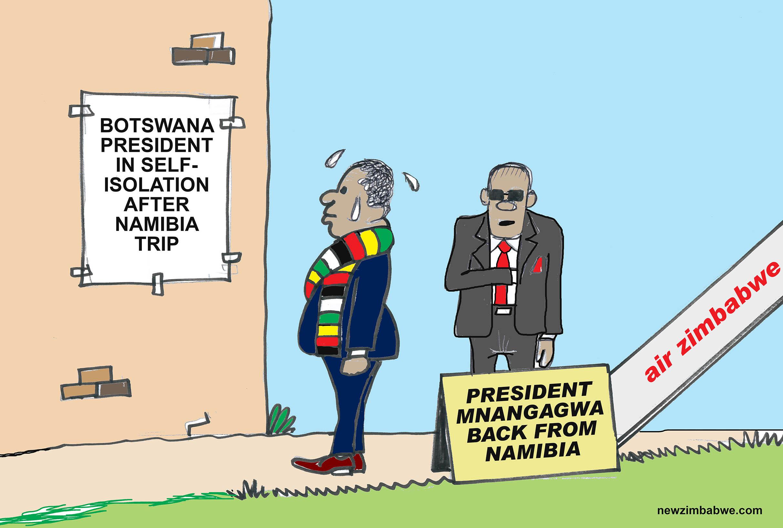 Mnangagwa back from Namibia
