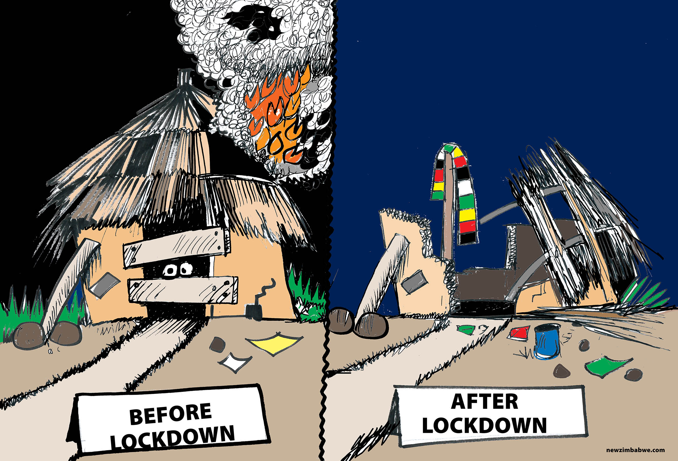 Zim before and after lockdown