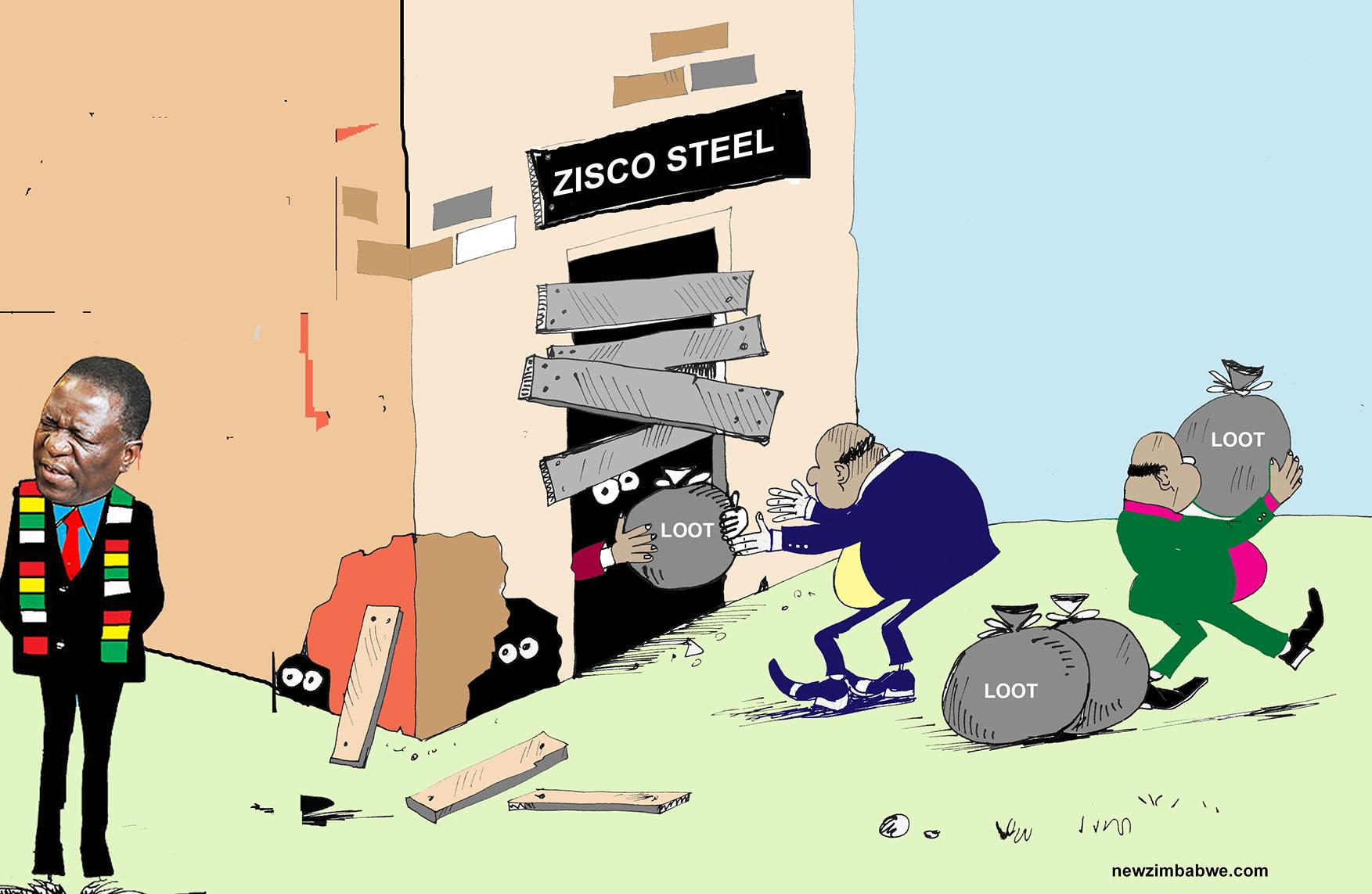 OF MNANGAGWA'S ALLIES AND ZISCO STEEL PLUNDER
