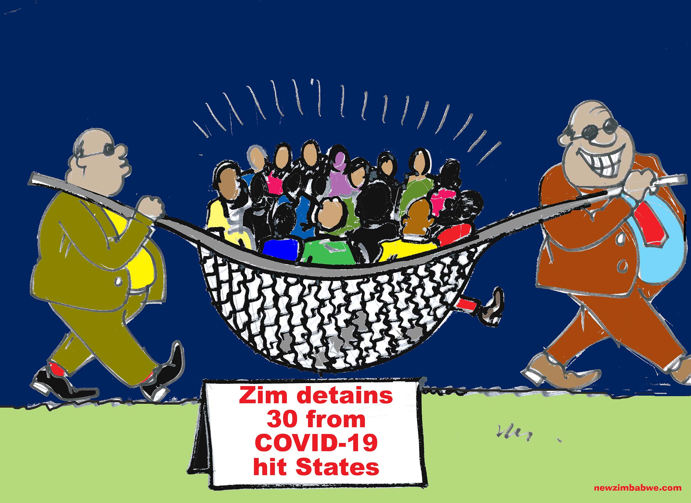 Zim detains 30 covid-19 suspects