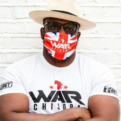 Chisora Sells Ring Entrance Masks To Help Spread COVID-19 Fight