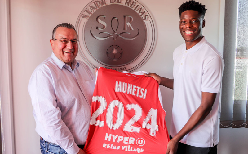Munetsi signs new Stade de Reims deal