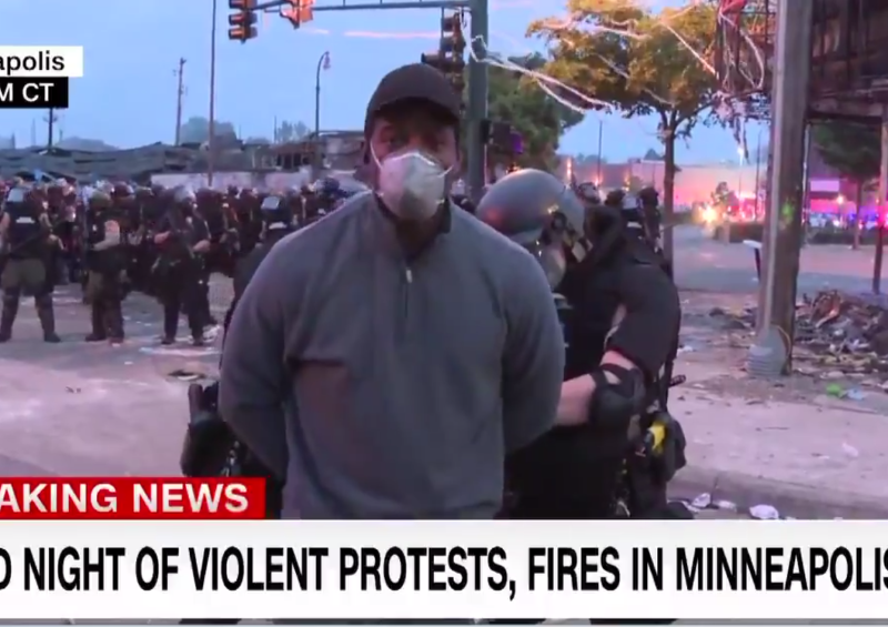 CNN journalist arrested while live on air
