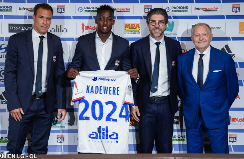 Kadewere ineligible for Lyon's UEFA Champions League campaign