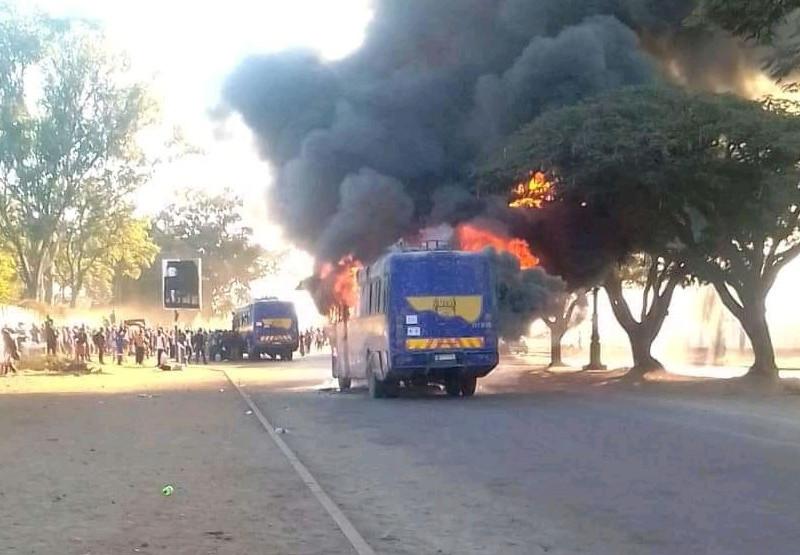 ZUPCO Bus Catches Fires In Gweru
