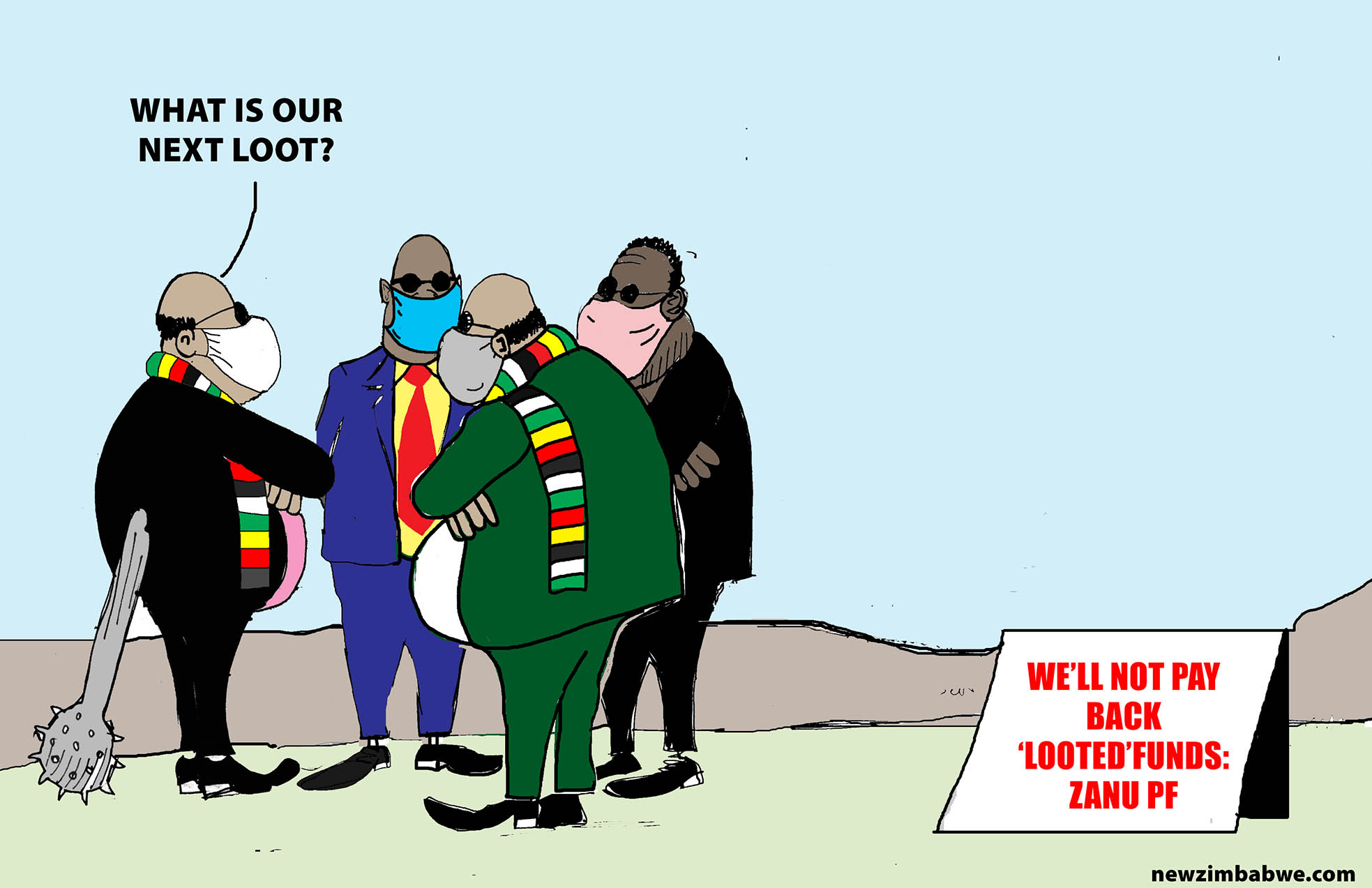 ZANU PF wont pay back looted funds