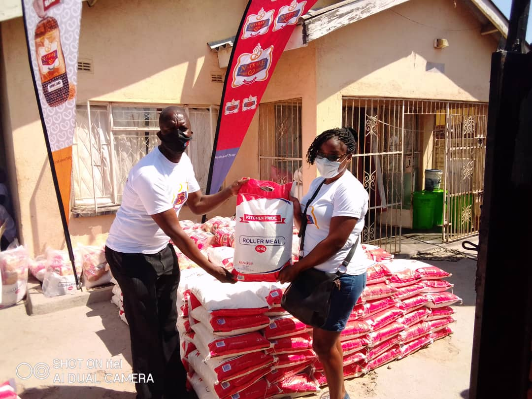 Natbake in 5 tonne mealie meal donation to philanthropic kitchen