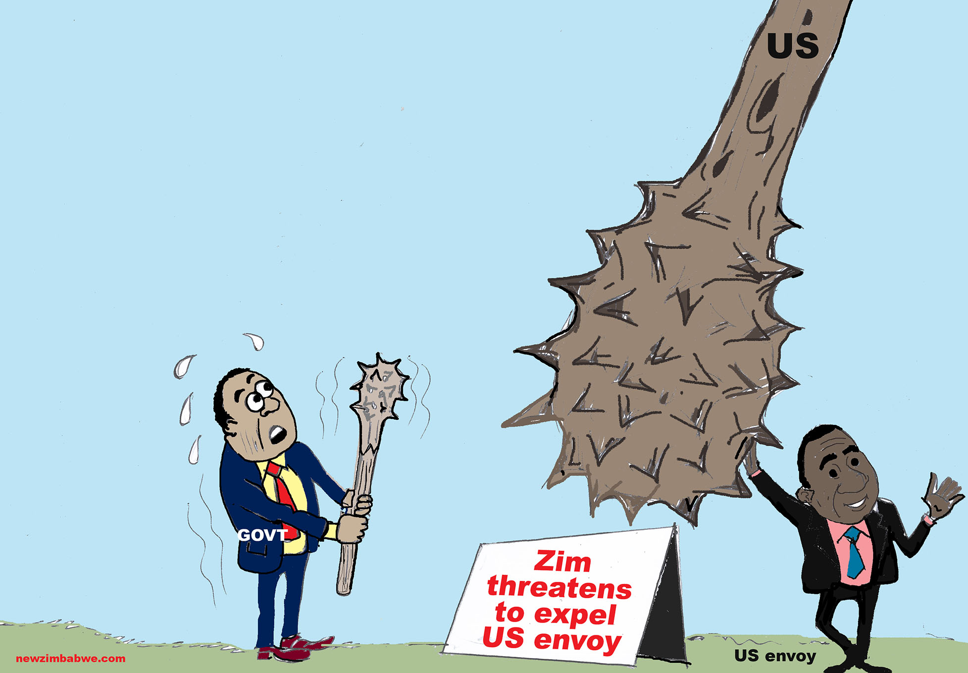 Zim threatens US envoy