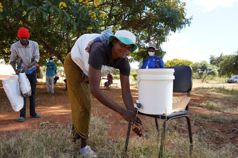 Hand Washing Stations Help Residents In Covid-19 Fight