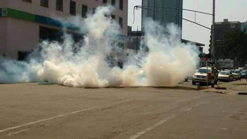 Police Fire Tear Gas On Mourners