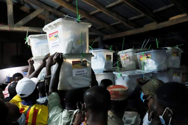 Opposition claims attacks as Ghana awaits vote results