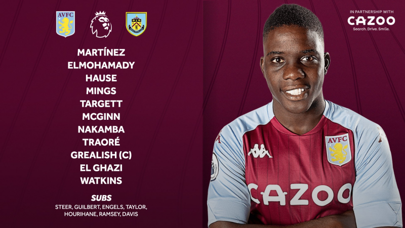 Nakamba Back In Aston Villa Starting Line-Up