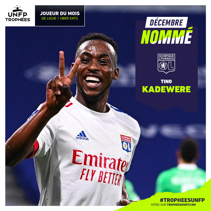 Tino Kadewere Nominated For French Ligue 1 Player of the Month Award
