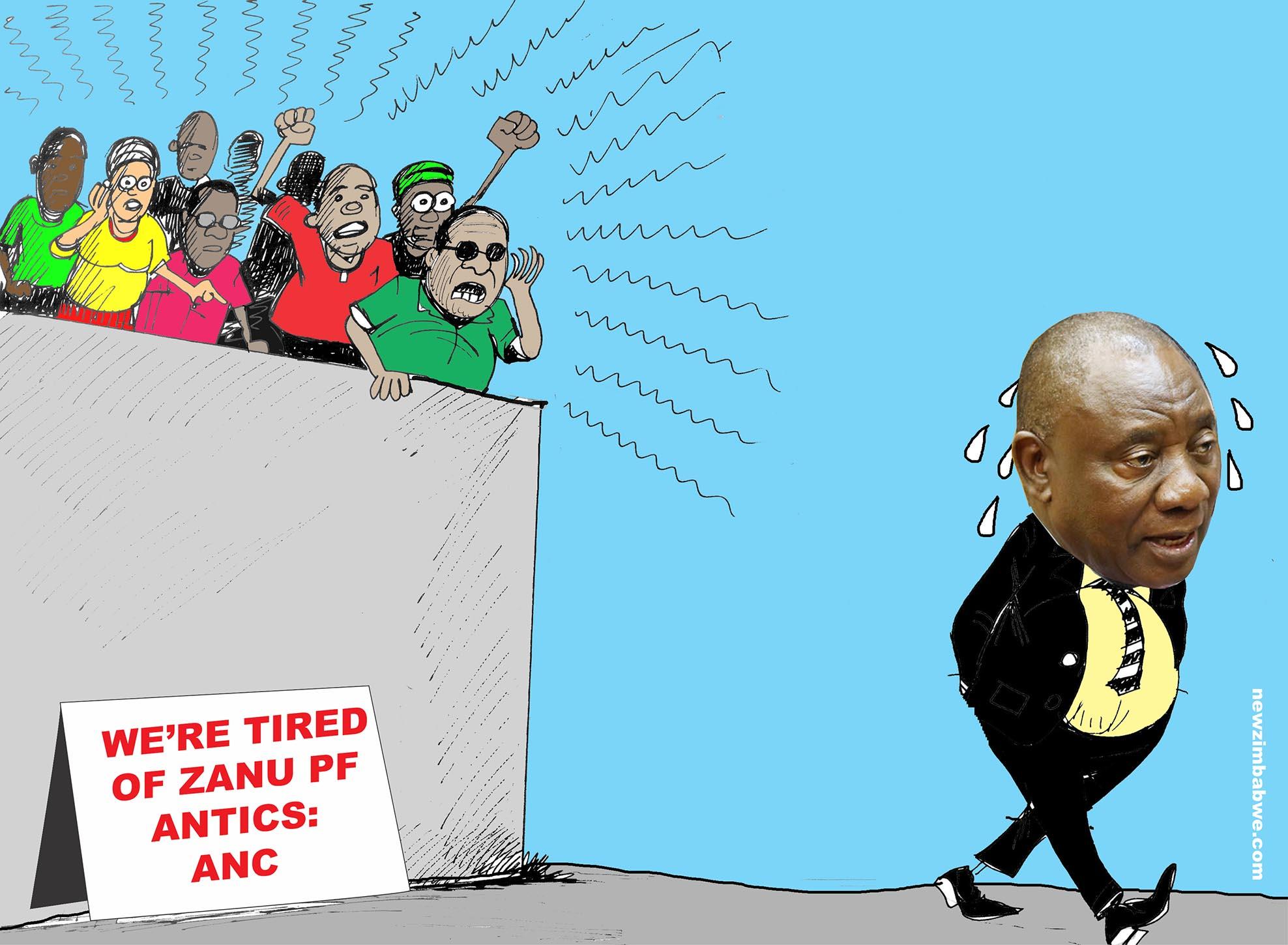We are tired of ZANU PF antics : ANC