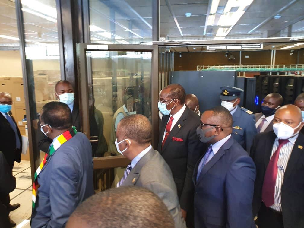 IN PICTURES: Mohadi Resurfaces, Accompanies Mnangagwa