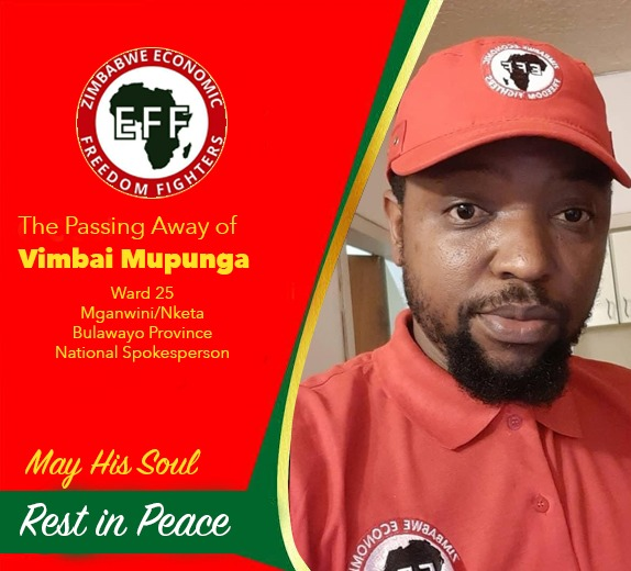 EFF Zimbabwe Leader Rallies Followers As Party Politician Is Buried