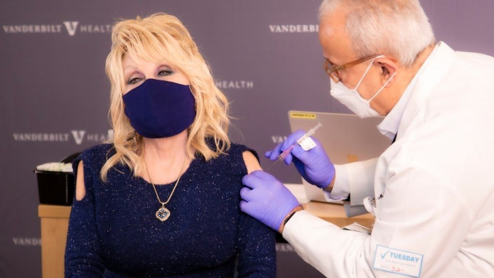 Country Star Dolly Parton Gets Vaccinated With Song Jolene Rewrite