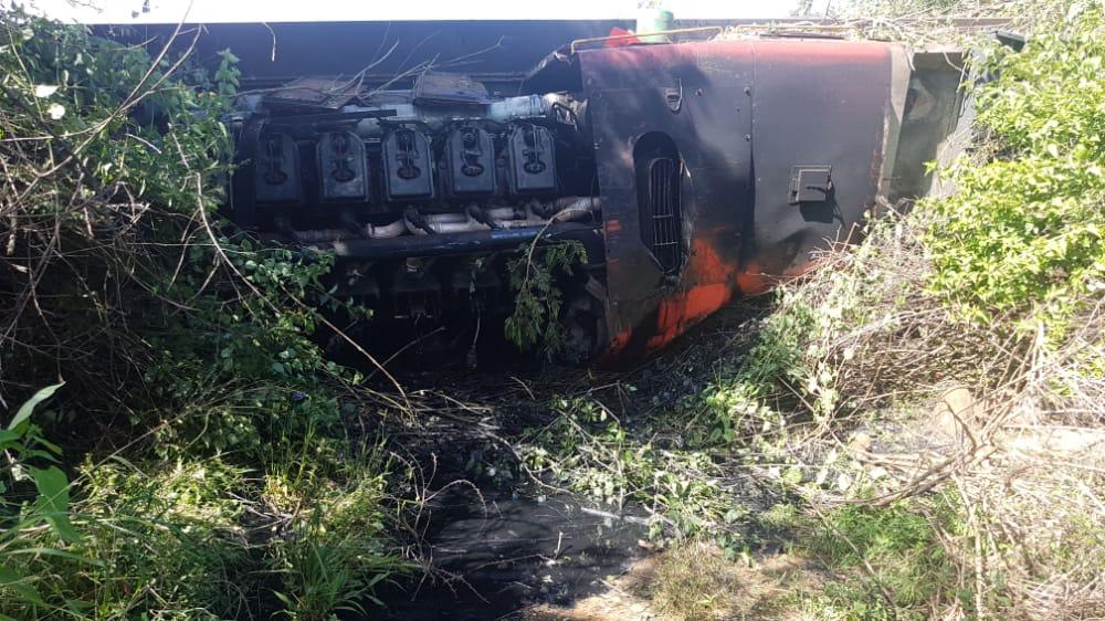 SA Hired Locomotive, Wagons Derail