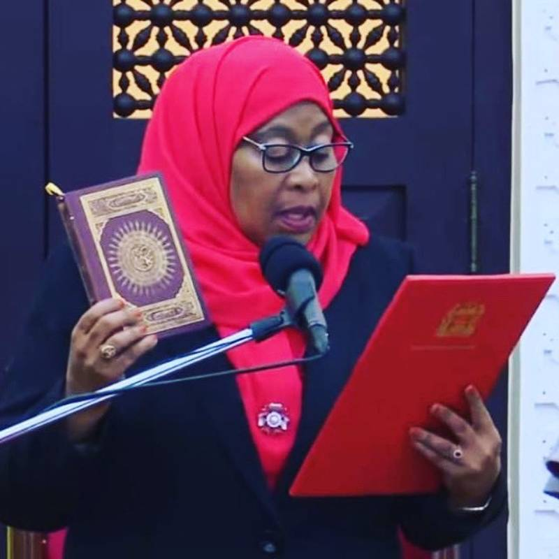 Tanzania's Samia Suluhu Hassan Sworn In As First Female President