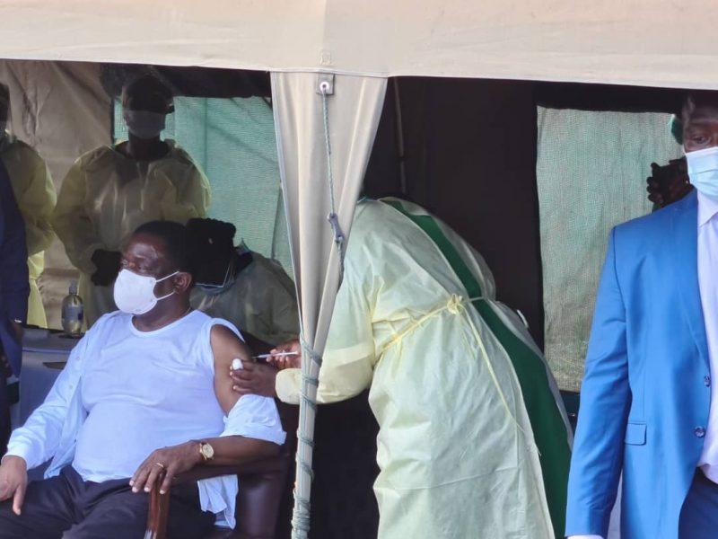 BREAKING: Mnangagwa Finally Gets Covid-19 Jab