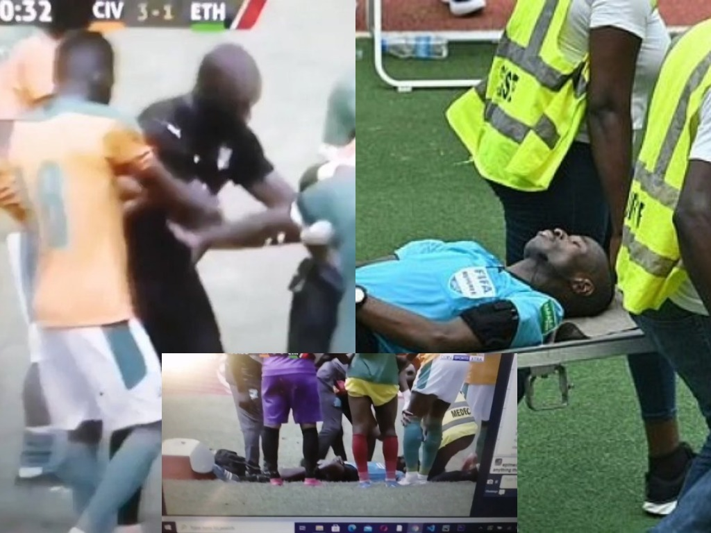 Referee Collapses, Stretchered Off In AFCON Qalifier