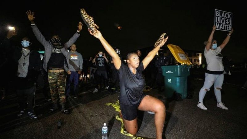 Mass Protests In US After Police Kill Black Man