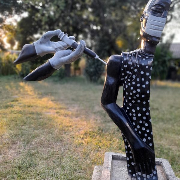 Visual Artist Ngwerume Uses Sculpture To Encourage Vaccination
