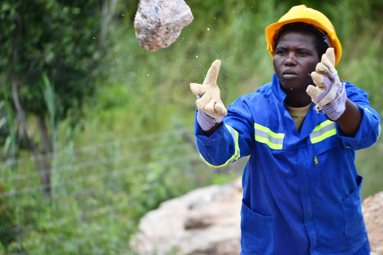 An All-Women Miners' Team Dig For Aquamarine In Karoi