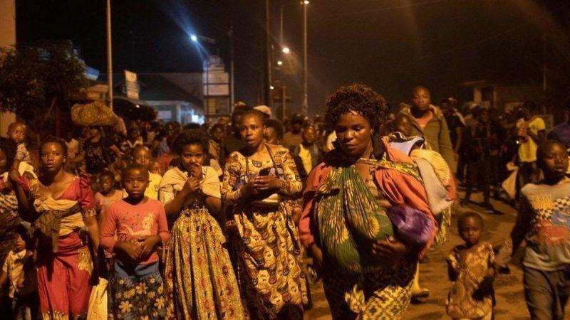 DR Congo Residents Flee As Volcano Erupts On Mt Nyiragongo