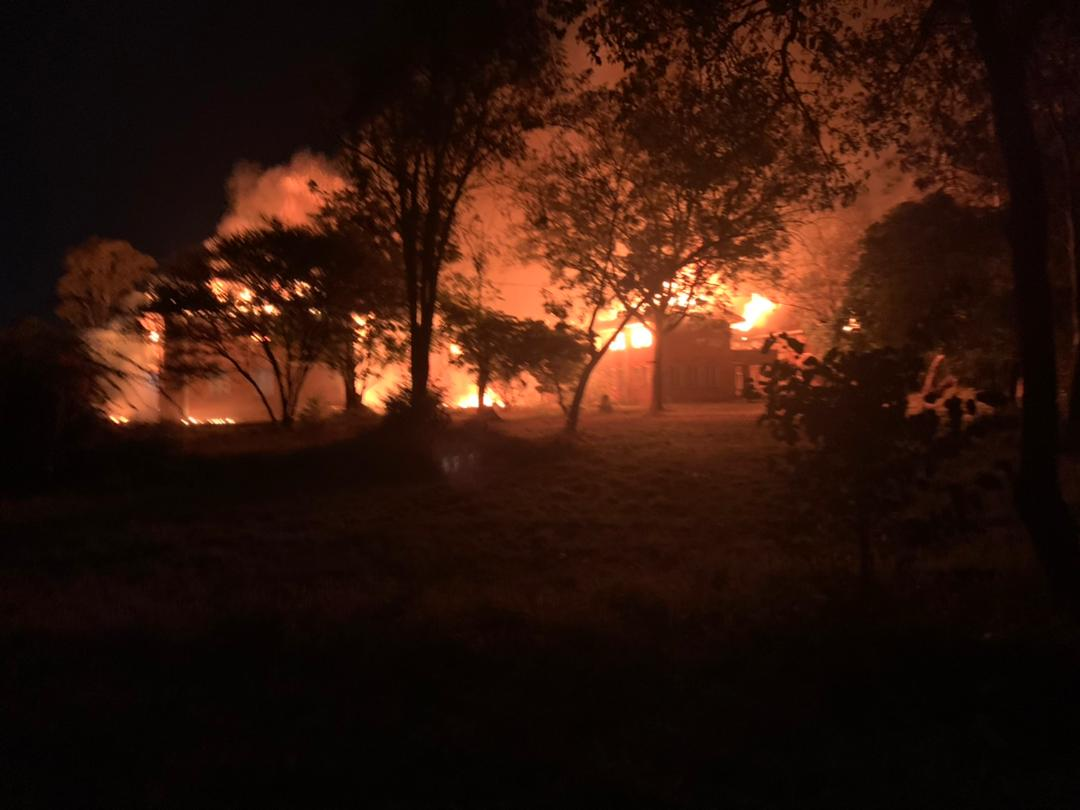 WATCH: Mpilo Doctors' Residence Gutted By Fire