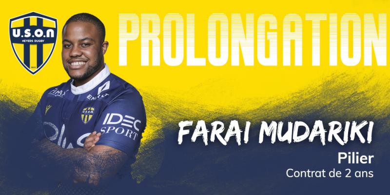 Farai Mudariki Renews Contract With French Rugby Club