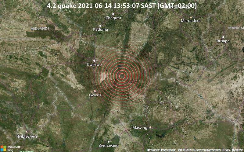 Earthquake Strikes Near Gweru