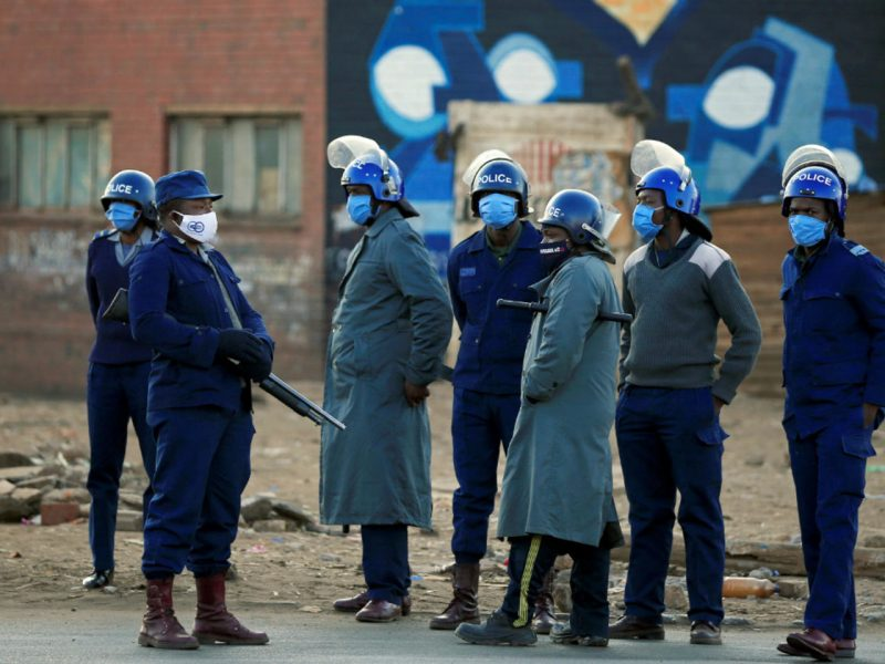 Police Block Access To Kwekwe CBD