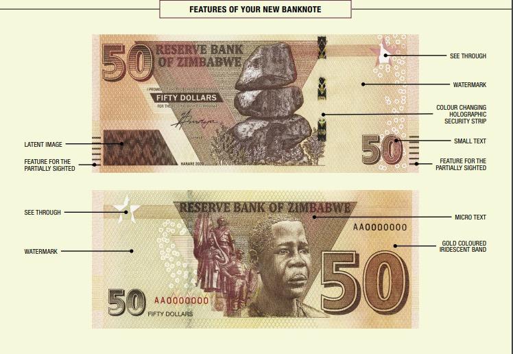 RBZ Unleashes New $50 Note With Mbuya Nehanda's Head