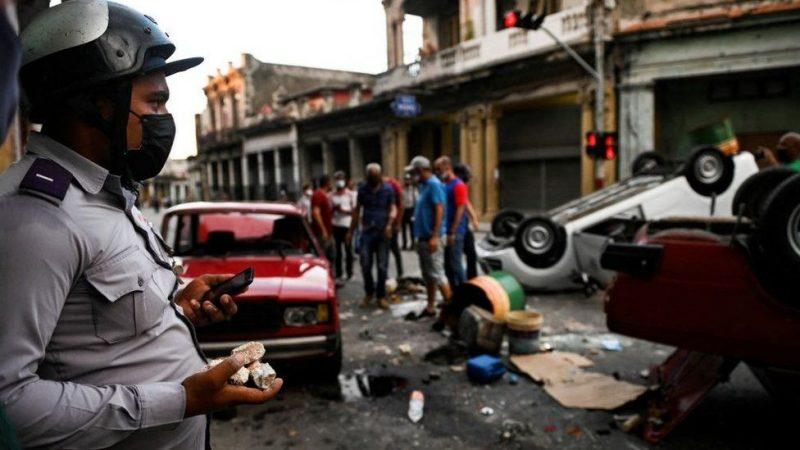 CubansJoin Rare Protests As Economy Struggles