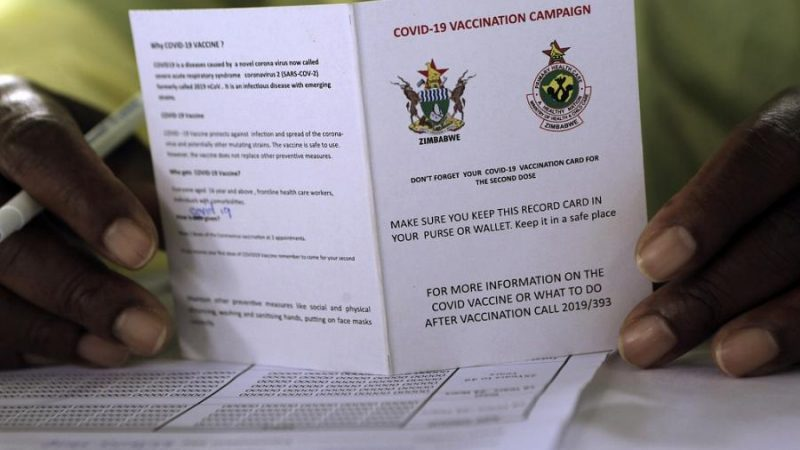 Covid Vaccine Card Theft: Zim Chasing False Herd Immunity – Report