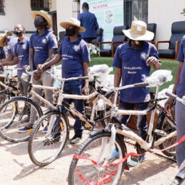 92 Mash East HIV Volunteers Receive Bicycles