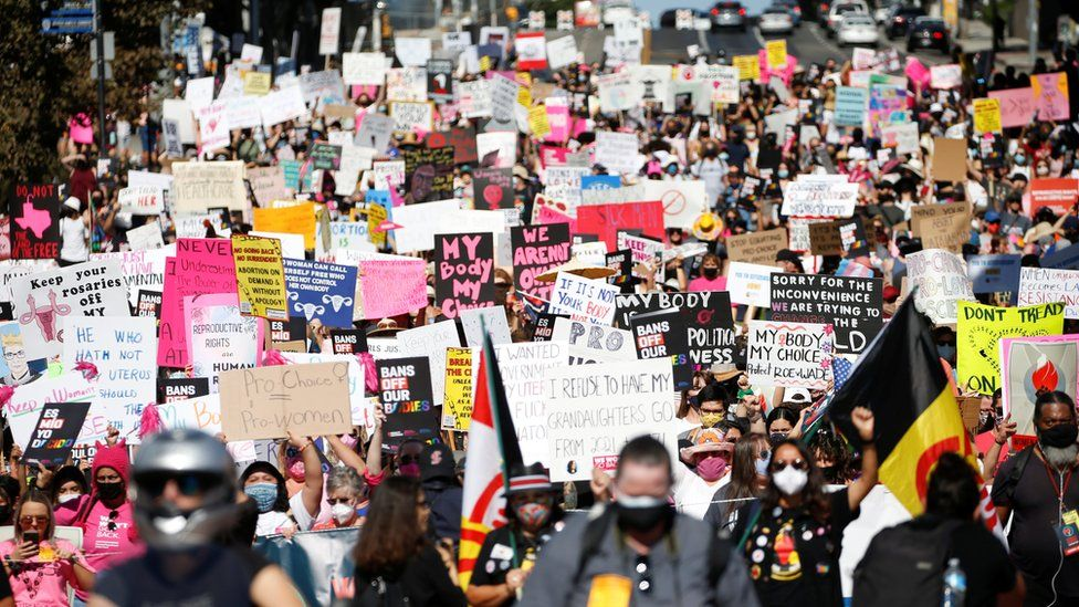 Thousands March In Support Of Abortion Rights In The US