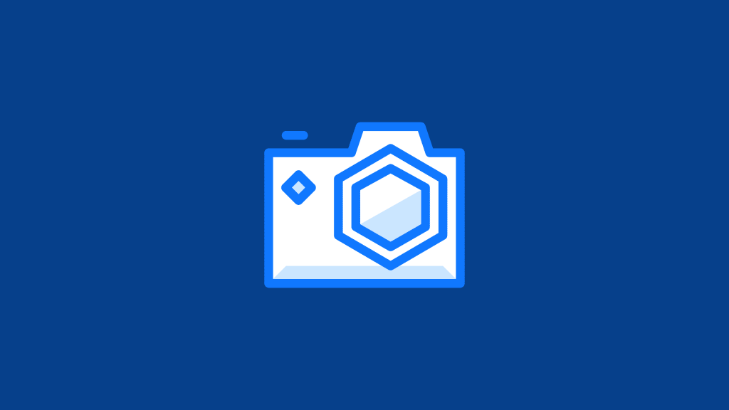 Icon of a photograph camera, used to resemble image formats such as webp