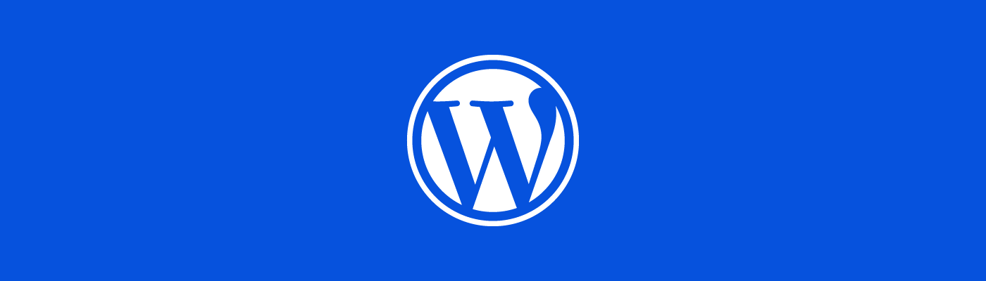 WordPress Logo on a blue background