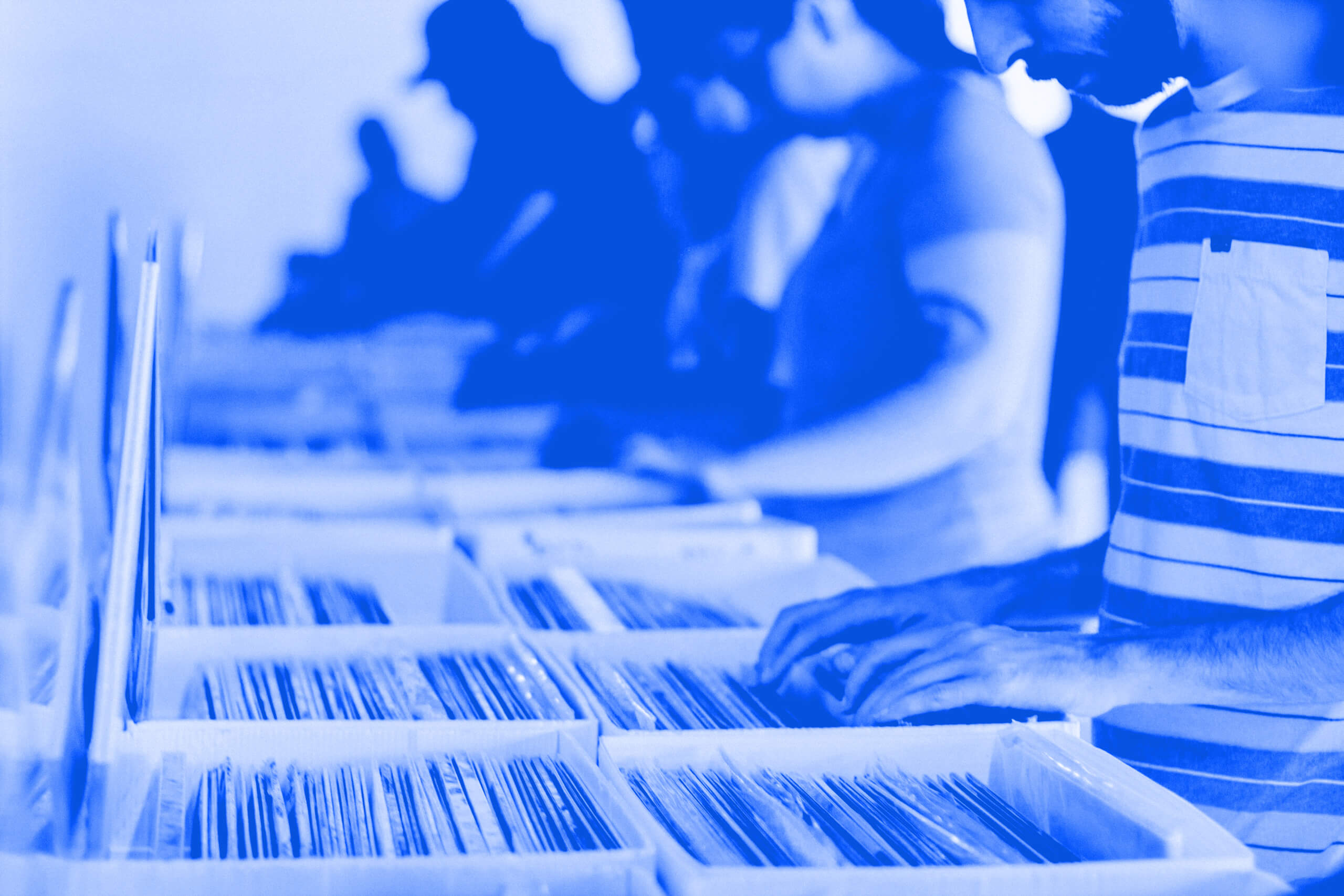 Website Redirects - People in Shop Searching Music Catalogue
