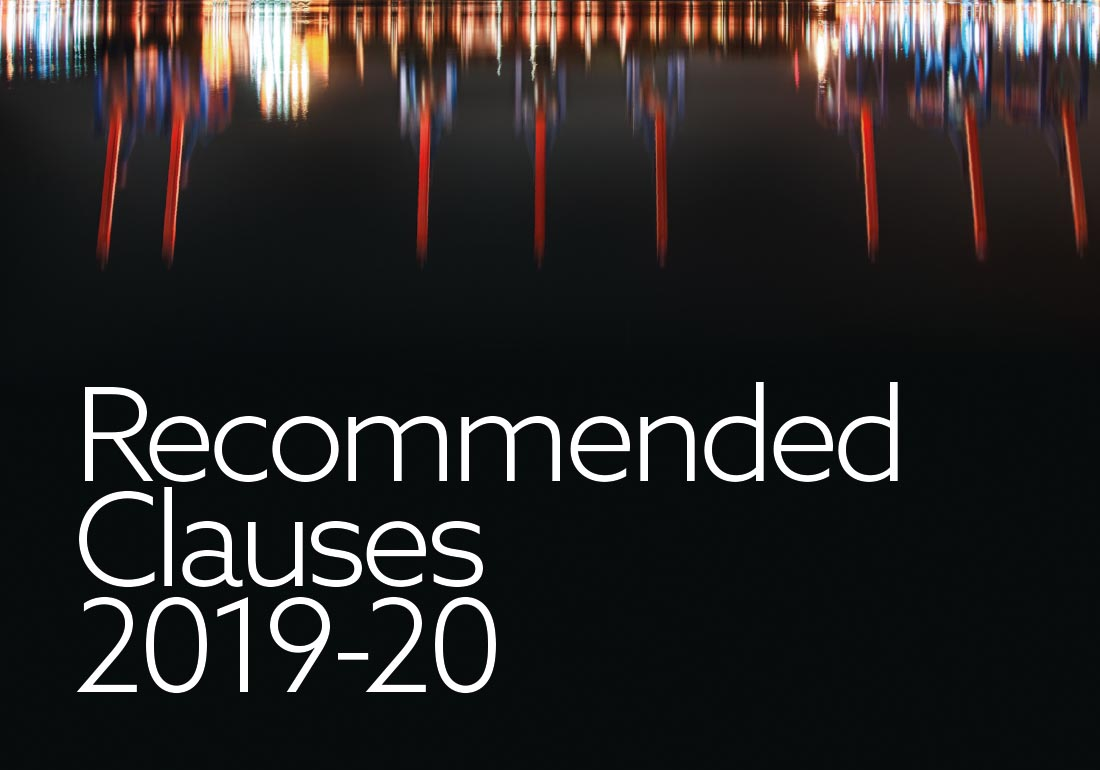 The Reccommended Clauses of the Club for the 2019-20 Policy Year.