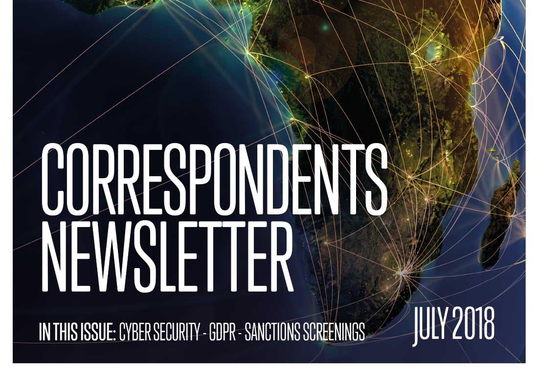 Correspondents Newsletter - July 2018