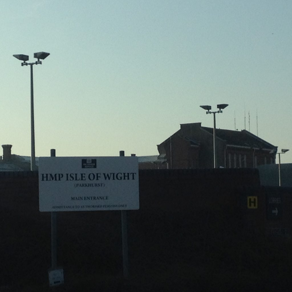 HMP Isle of Wight sign