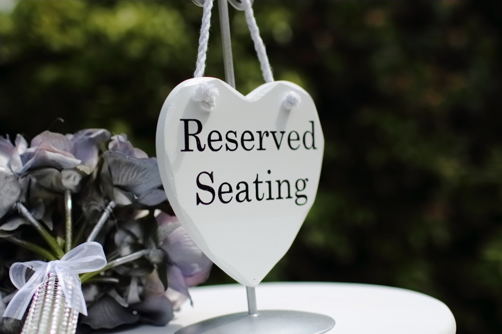 Reserved seating 1