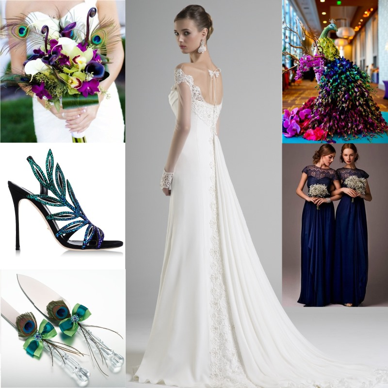 How To Pull Off A Peacock Themed Wedding By Mode Bridal