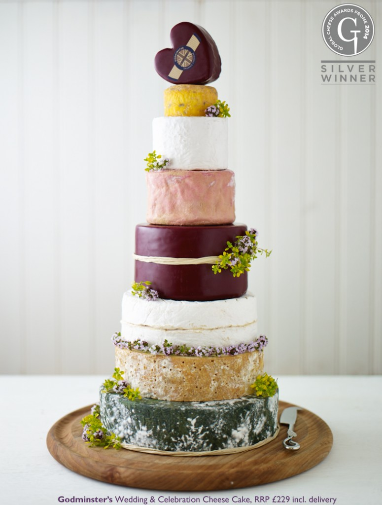 Godminster Wedding and Celebration Cake - Silver Global Cheese Award 2014
