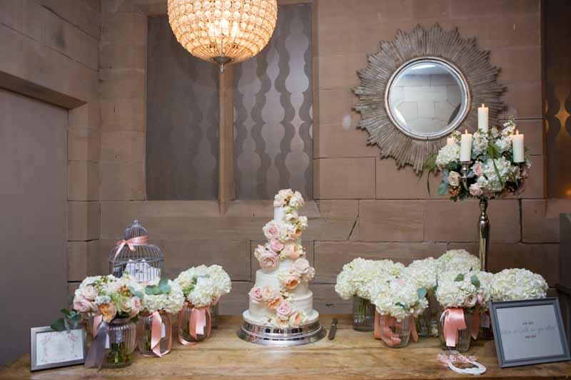 Wedding Cake Flowers Peach Roses Luxury Decoration Hampton Manor Wedding Flowers Passion for Flowers