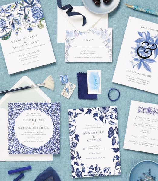 Papier blue stationery