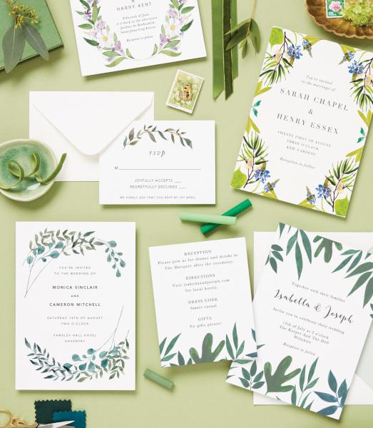 Papier green stationery